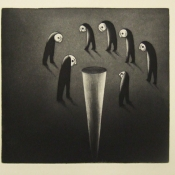 """Night Monster""  35cmx 38cm (14""x 15"") aquatint print"