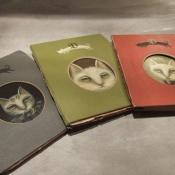 """Passports of Pawland"" 15cmx 11.5cm (6""x 4.6"") acrylic and mixed media"