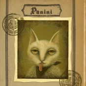 """Passport of Pawland for Panini"" 15cmx 11.5cm (6""x 4.6"") acrylic and mixed media"