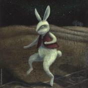 """Hopscotch"" 17.5cmx 12.5cm (7""x 5"") acrylic on illustration board"