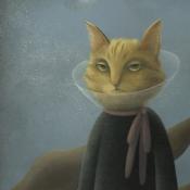"""Farewell"" 94cmx 50cm (37""x 20"") acrylic on illustration board"
