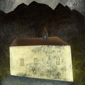 """The Magical Night"" 19cmx 14cm (7.5""x 5.5"") acrylic on illustration board"