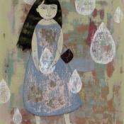"""The Crying Girl"" 23cm x 19cm (9""x 7.5"") acrylic on illustration board"